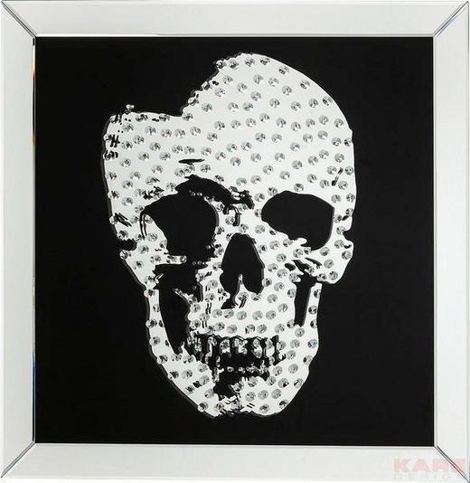 BILD Rockstar by Geiss - Silberfarben/Schwarz, Design, Glas (80/80/4,5cm) - Kare-Design