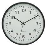 FUNKUHR 30 cm   - Schwarz/Weiß, Basics, Glas/Kunststoff (30cm) - Ambia Home