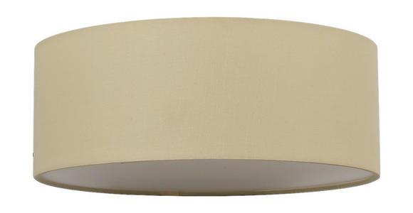 Deckenleuchte Mila Ø 26 cm mit Textilem Lampenschirm - Beige, ROMANTIK / LANDHAUS, Textil/Metall (26/10cm) - James Wood