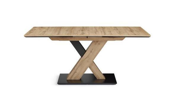 ESSTISCH in Holzwerkstoff 110(150)/70/75,5 cm  - Eichefarben/Schwarz, Design, Holzwerkstoff (110(150)/70/75,5cm) - Cantus