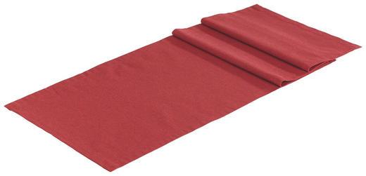 TISCHLÄUFER Textil Leinwand, Struktur Rot 40/150 cm - Rot, Textil (40/150cm) - NOVEL