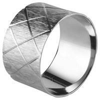 SERVIETTENRING - Silberfarben, Design, Metall (4,5/2,75cm) - Ambia Home