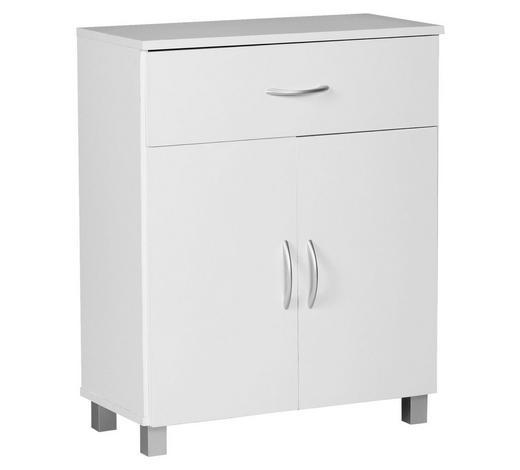 KOMMODE foliert Weiß  - Weiß/Grau, KONVENTIONELL, Holzwerkstoff/Kunststoff (60/75/30cm) - Carryhome