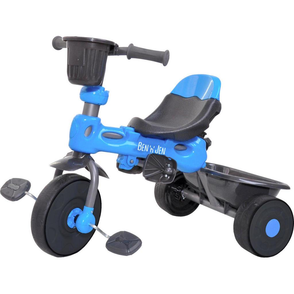 Blaues Dreirad mit gepolstertem Sitz von Ben'n'Jen