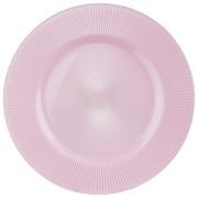 PLATZTELLER  34 cm - Rosa, KONVENTIONELL, Glas (34cm) - NOVEL