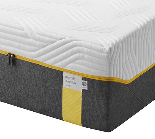 MATRATZE SENSATION LUXE - Weiß/Grau, Basics, Textil (180/200cm) - Tempur