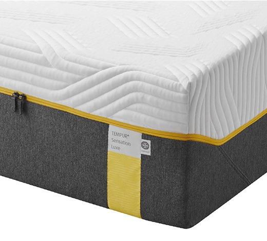 MATRATZE SENSATION LUXE 90/200 cm - Weiß/Grau, Basics, Textil (90/200cm) - Tempur