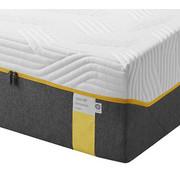 Polyurethanschaumkern Matratze 90/200 cm - Weiß/Grau, Basics, Textil (90/200cm) - Tempur