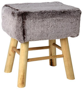 PALL - grå/naturfärgad, Trend, trä/textil (37/27/42cm) - Ambia Home