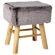 TABURET - šedá/přírodní barvy, Trend, dřevo/textil (37/27/42cm) - Ambia Home