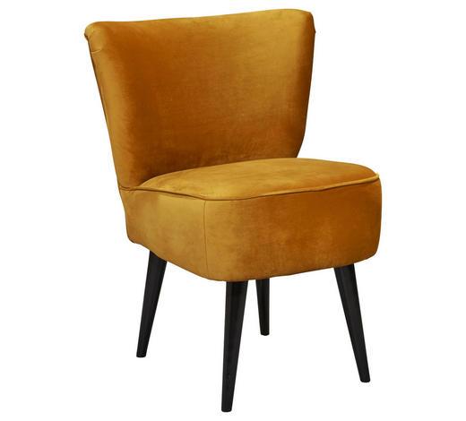 SESSEL in Textil, Holzwerkstoff Goldfarben  - Goldfarben/Schwarz, Trend, Holz/Holzwerkstoff (65/89/70cm) - Carryhome