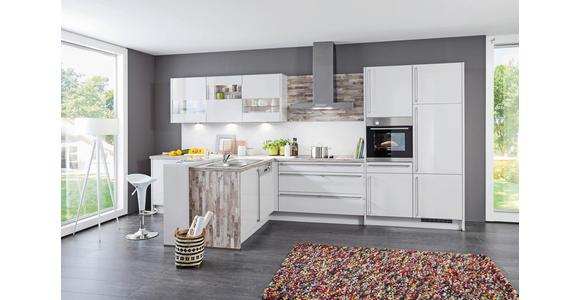 Einbauküche Florenz individuell planbar - Platinfarben/Silberfarben, MODERN, Holzwerkstoff - Vertico