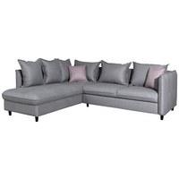 SJEDEĆA GARNITURA - svijetlo ružičasta/tamno smeđa, Design, drvo/metal (245/85/225cm) - TI`ME