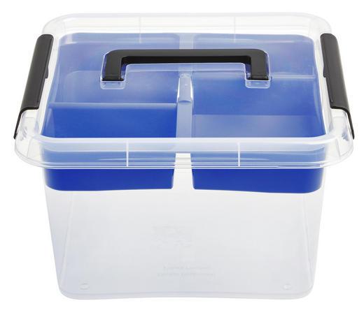 BOX S VÍKEM - průhledná, Basics, umělá hmota (9l)