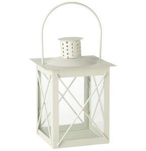 LYKTA - vit, Design, metall/glas (15/20/15cm) - Ambia Home