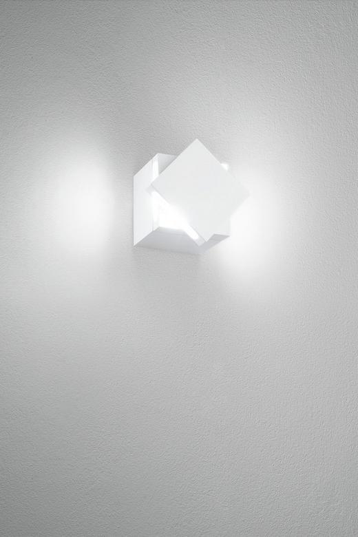 WANDLEUCHTE - Weiß, Design (8/8/8.3cm)