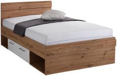 Bett Box 120x200 Artisan Eiche/Alpinweiß - Blau/Eichefarben, MODERN, Holzwerkstoff (120/200cm) - Ombra