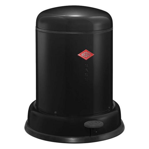 ABFALLSAMMLER BASEBOY 8 L - Edelstahlfarben/Schwarz, Kunststoff/Metall (33/40cm) - Wesco