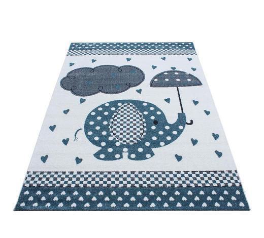 KINDERTEPPICH  120/170 cm  Blau, Grau, Weiß   - Blau/Weiß, Trend, Textil (120/170cm) - Ben'n'jen