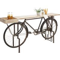 ODKLÁDACÍ STOLEK - černá/přírodní barvy, Trend, kov/dřevo (180/94/40cm) - Ambia Home