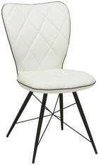 ŽIDLE - bílá/šedá, Moderní, kov/textil (49/90/61cm) - HOM IN
