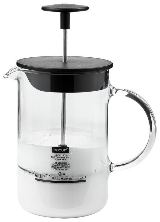 MILCHSCHÄUMER - Edelstahlfarben/Transparent, Basics, Glas/Kunststoff (12,6/19,3/10,4cm) - Leonardo