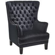 KARMSTOL - svart, Lifestyle, trä/textil (92,5/115/94cm)