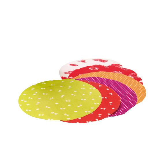 Deckchen für Einmachgläser Textil Multicolor 15 cm - Multicolor, Textil (15cm)