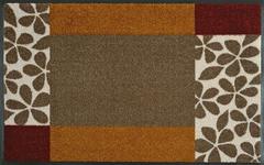 FUßMATTE 50/75 cm Graphik Braun, Orange, Rot  - Rot/Braun, Basics, Kunststoff/Textil (50/75cm) - Esposa