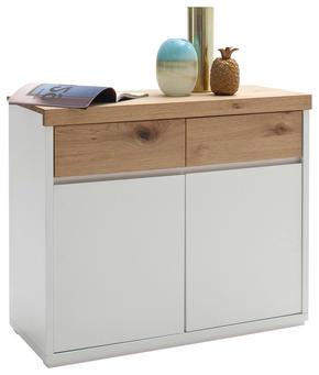BYRÅ - vit/ekfärgad, Design, trä/träbaserade material (97/81/40cm) - Novel