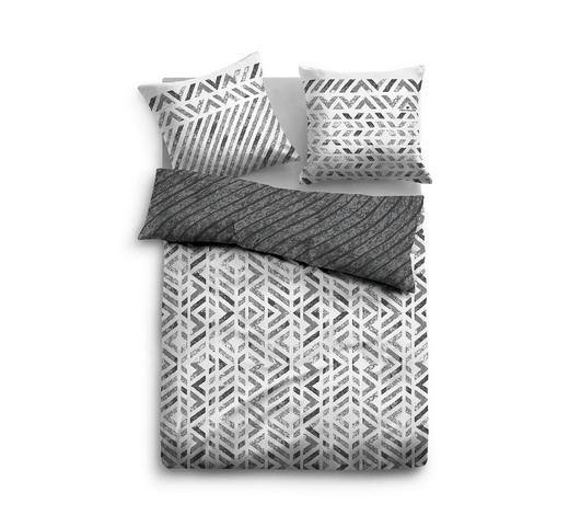 POSTELJINA - bijela/tamno siva, Konvencionalno, tekstil (140/200cm) - Tom Tailor