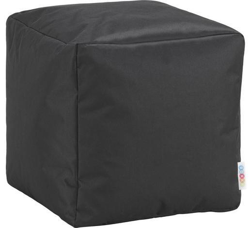 SEDACÍ KOSTKA,  - černá, Design, textil (40/40/40cm) - Boxxx