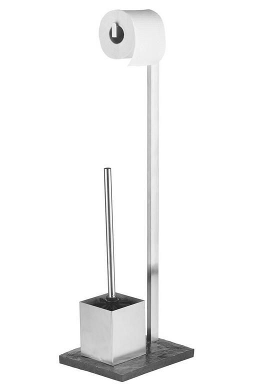 WC-BÜRSTENKOMBINATION - Schieferfarben, Basics, Kunststoff/Metall (21/11/76cm)
