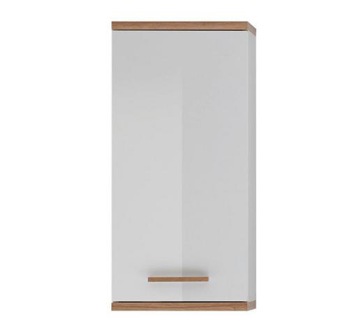 HÄNGESCHRANK Weiß  - Eichefarben/Weiß, Design, Glas/Holz (35,5/74,5/20,5cm) - Xora
