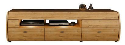 LOWBOARD in Braun, Eichefarben - Eichefarben/Silberfarben, KONVENTIONELL, Holzwerkstoff/Kunststoff (180/50/50cm) - Xora