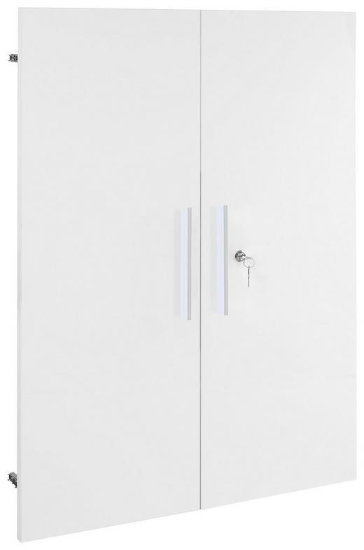 TÜR Weiß - Silberfarben/Weiß, Design, Metall (75,6/102,3cm) - Voleo
