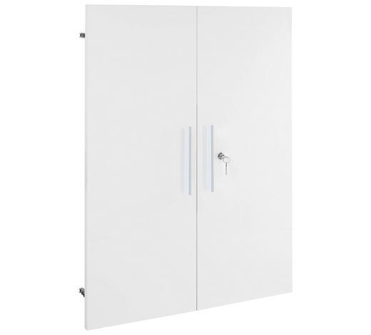 TÜR - Silberfarben/Weiß, KONVENTIONELL, Holzwerkstoff/Metall (75,6/102,3cm) - Voleo