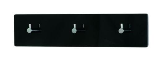 GARDEROBA ZIDNA - boje kroma/crna, Design, drvni materijal/metal (34/5/8cm) - BOXXX