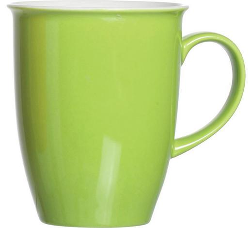 KAFFEEBECHER - Weiß/Grün, Basics, Keramik ( 0,32l) - Ritzenhoff Breker