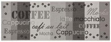 Läufer Coffee 80x200 cm - Anthrazit/Silberfarben, Basics, Textil (80/200cm) - Ombra