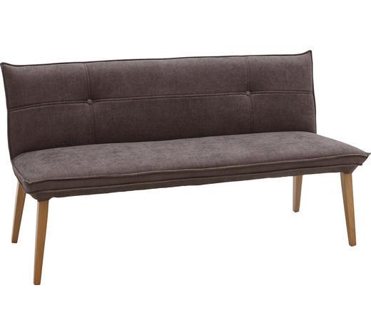 SITZBANK  in Grau, Eichefarben - Eichefarben/Grau, KONVENTIONELL, Holz/Textil (159/85/60cm) - Voleo