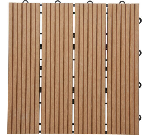 PLOČICE ZA TERASU - smeđa, Konvencionalno, drvni materijal (30/30/2,4cm) - Ambia Garden
