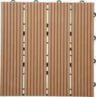 PLOŠČICE ZA TERASO - rjava, Konvencionalno, leseni material (30/30/2,4cm) - Ambia Garden