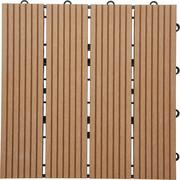 TERRASSENFLIESE - Braun, KONVENTIONELL, Holzwerkstoff (30/30/2,4cm) - AMBIA GARDEN
