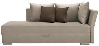 LIEGE in Textil Beige - Chromfarben/Beige, Design, Kunststoff/Textil (220/93/100cm) - Xora