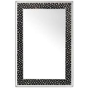 SPEGEL - silver/svart, Design, glas/träbaserade material (80/120/4,4cm) - Xora