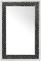SPIEGEL - Silberfarben/Schwarz, Design, Glas/Holzwerkstoff (80/120/4,4cm) - Xora