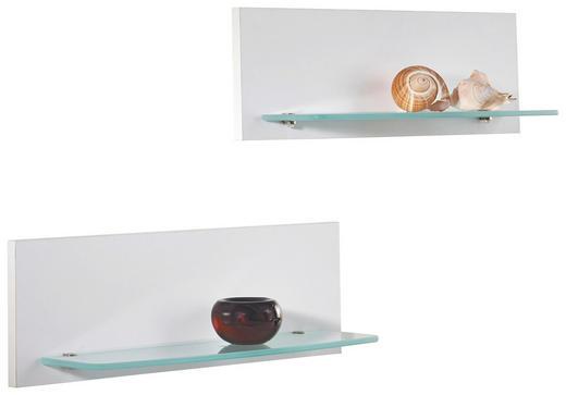 WANDBOARD Weiß - Weiß, Design, Glas (58/2/18cm) - Moderano