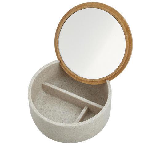 KOSMETIKDOSE Kunststoff - Grau, Basics, Glas/Holz (13,5/6,5/13,5cm) - Celina