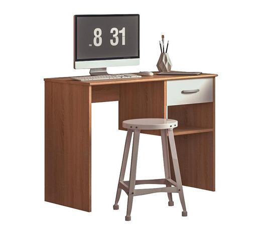 PISAĆI STOL  bijela, hrast Sonoma  drvni materijal  - bijela/hrast Sonoma, Moderno, drvni materijal (96/75/46cm) - Carryhome